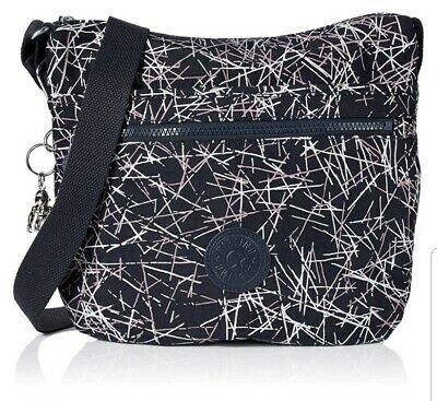 NEW Kipling Arto shoulder across body bag navy Stick print Rrp£73
