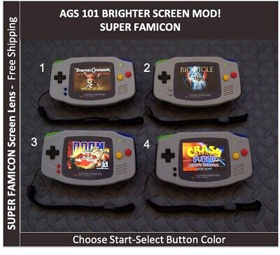Nintendo Game Boy Advance GBA SUPER FAMICOM AGS 101 Brighter Mod Backlit System