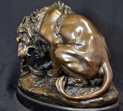 20 kg bronze lion signé A.L.BArye sur marbre en fait à la main fabriqué