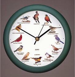 WALL CLOCKS - SINGING BIRDS WALL CLOCK - 8 DIAMETER