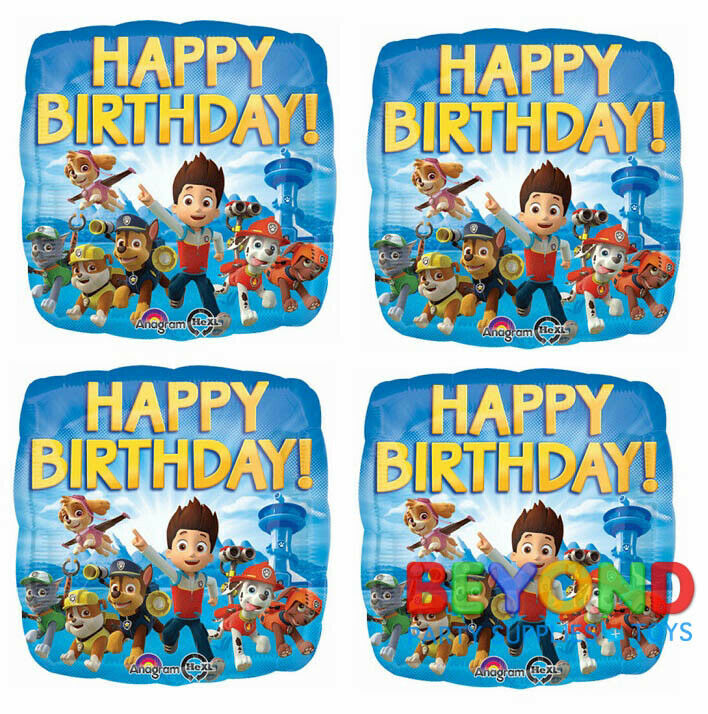paw patrol happy birthday party mylar foil