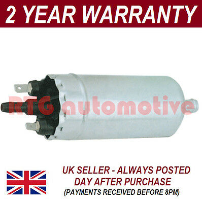 UNIVERSAL HIGH POWER 12V FUEL PUMP SPADE CONNECTORS 15mm IN 8mm OUT PETROL DIES