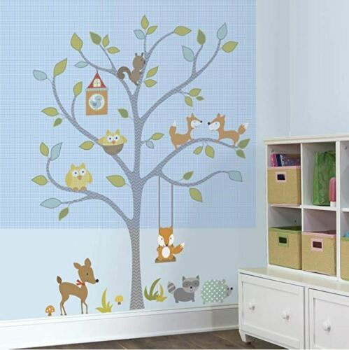 RoomMates Peel And Stick Wall Decals Woodland Fox & Friends Tree