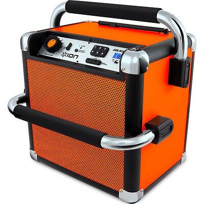 Ion Audio Job Rocker Plus Bluetooth Portable Jobsite Sound System Orange