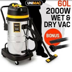 60L Wet Dry Vacuum Cleaner - 2000W Industrial Grade Vac Drywall
