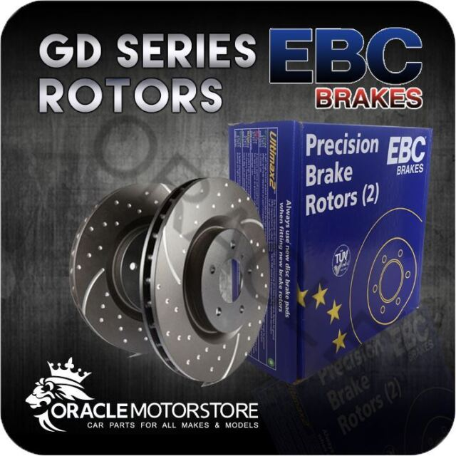 NEW EBC TURBO GROOVE FRONT DISCS PAIR PERFORMANCE DISCS OE QUALITY - GD1554