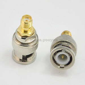 2pcs-BNC-male-to-SMA-female-RF-Connector-Adapter