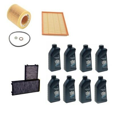 BMW E70 X5 X6 Oil Air and Cabin Air Filter Kit with 8 Liters Engine Oil 5W-30