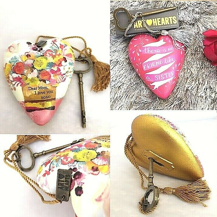 Art Hearts Gift Mom Daughter or Grandma Gift Set Express Love Key Heart Display Home & Garden
