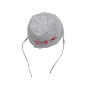 MaxiMo Mütze Sommermütze Sonnenhut festlich Weiß Bindemütze Mädchen Gr. 53