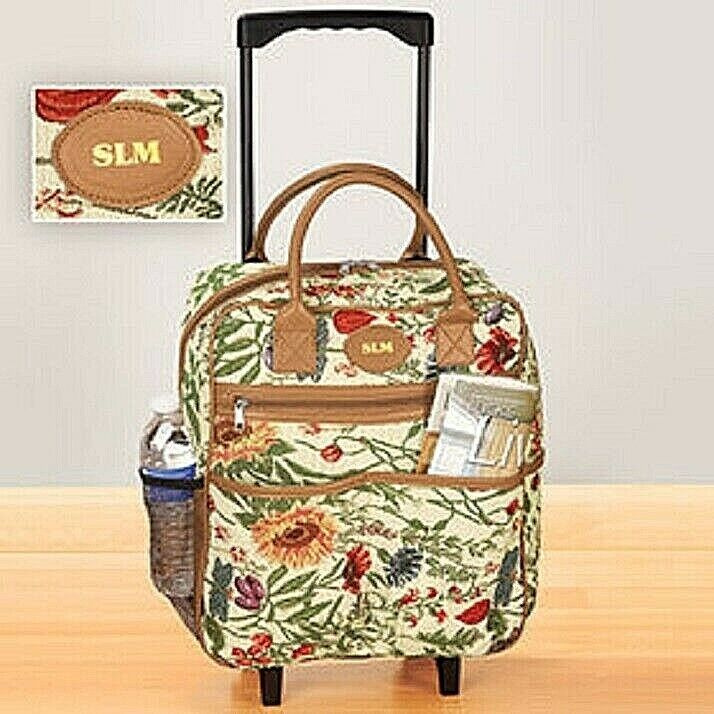 Rolling Tote Bag Tapestry Rolling Travel Bag Telescoping two wheels with Handle Clothing, Shoes & Accessories