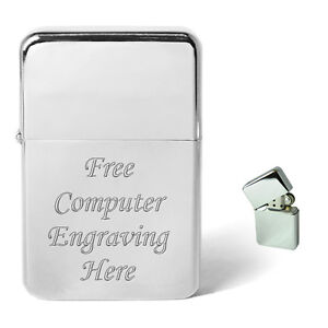 Engraved-Lighter-Personalised-For-Wedding-Christmas-Best-Men-Usher-Birthday-Gift