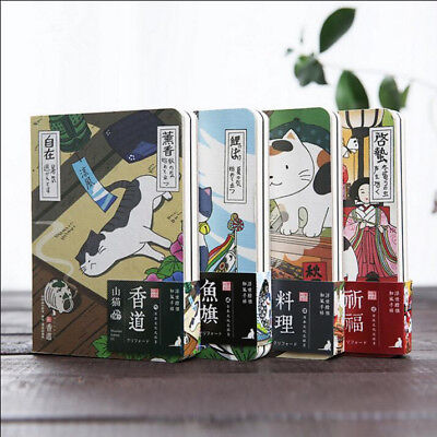 """Japanese Cat ver.2"" 1pc Cute Monthly Planner Notebook Study Journal Diary Memo"