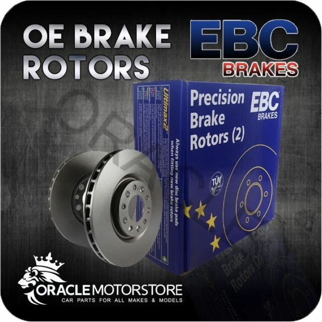 NEW EBC OE PREMIUM REAR DISCS PAIR BRAKING DISCS OE QUALITY - D650