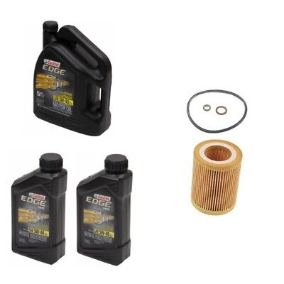 Synthetic Engine Motor Oil And Filter 7 Quarts 5w40 Castrol Edge / Mann For BMW