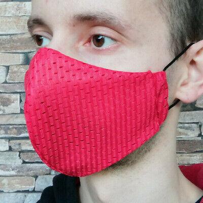M Coolmax® Mesh Arbeitsmaske 8⏱ Mundschutz maske rot atmungsaktiv ventil sport