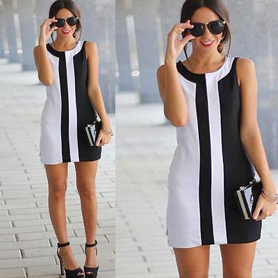 Women Summer Sleeveless 2016 Sexy Casual Evening Party Cocktail Short Mini Dress
