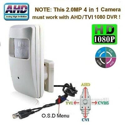 Sunvision AHD 2.0MP HD 1080P MotionDetector Style Spy Camera 3.7mm Lens OSD (A47
