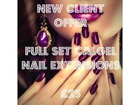 Calgel nail extensions NEW CLIENTS ONLY!!