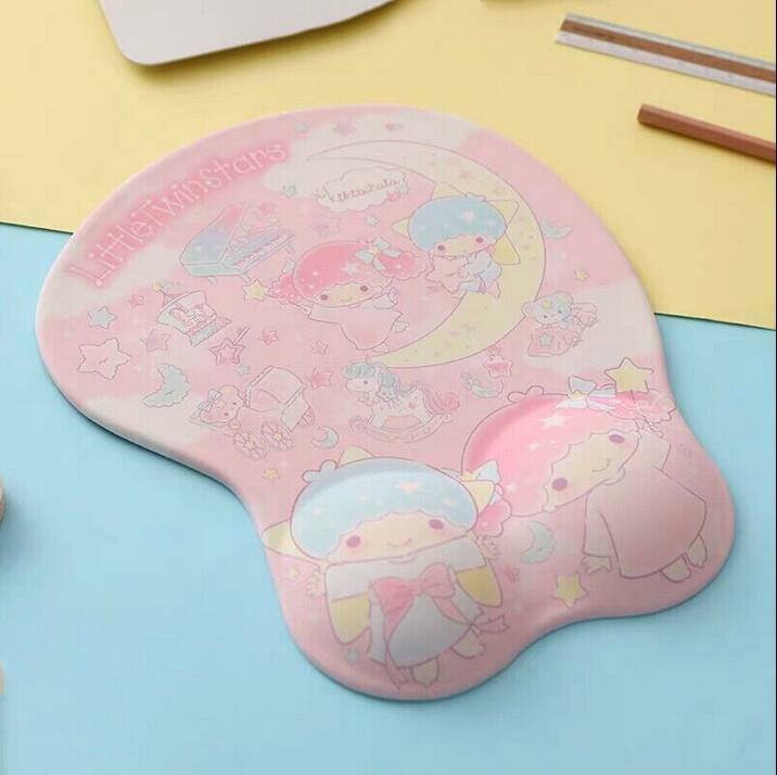 Cute Little Twin Stars Wrist Mat Mice Rest Protector Computer Laptop Mouse Pad