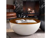 Brand New White Round Drum Coffee Table £300 (£425 New from Website)