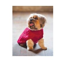 Classic Turtleneck Sweater for Dog - Red - XXS - XS - Solid turtleneck sweater
