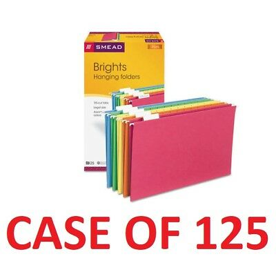 Smead 64159 Office Hanging File Folders Assorted 15 Tab Legal Size -case125