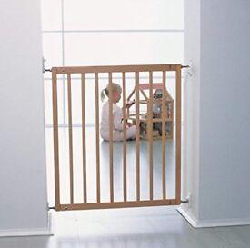 BabyDan No Trip Stair Safety Gate (beech finish)