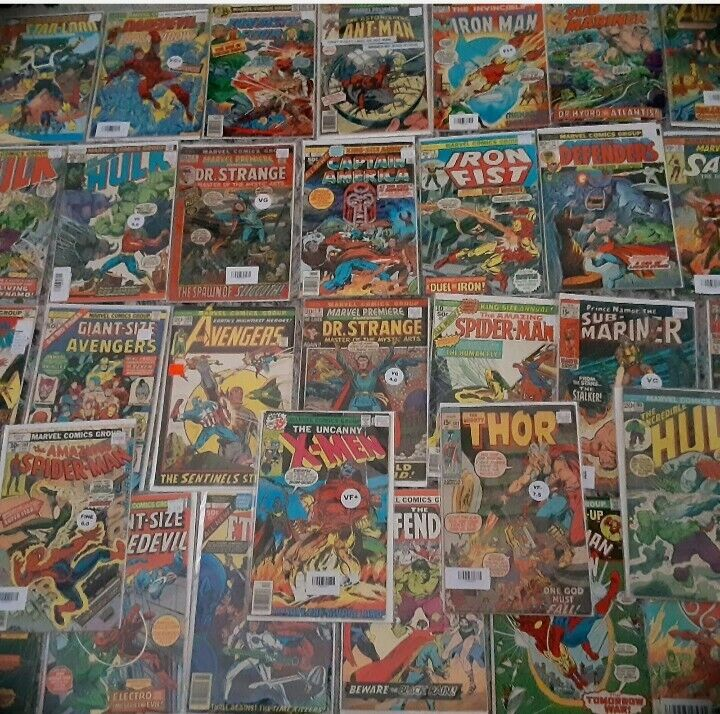 Marvel Vintage Comics lot of 15, Bronze Age 1970-1985, Very Fine Condition!