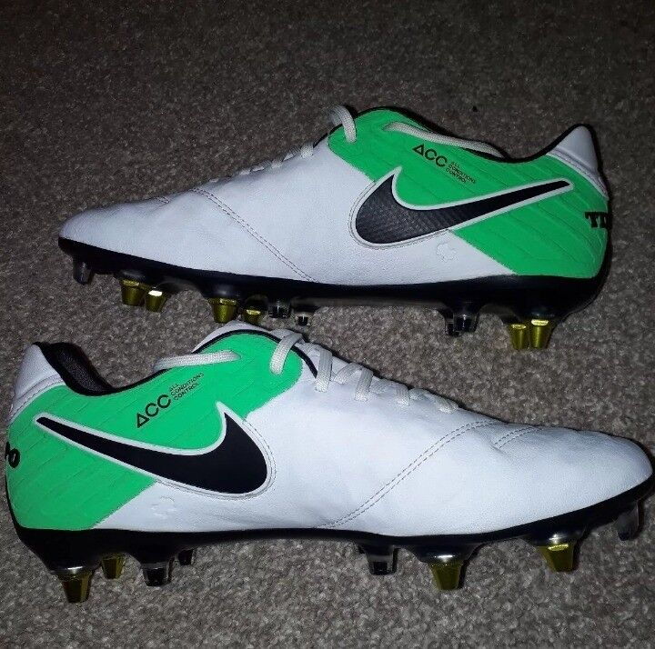 new product 4c1f2 fc3f8 NIKE TIEMPO LEGEND VI SG-PRO ANTI CLOG ACC SIZE UK 7.5 White & Green NEW  Leather | in Lutterworth, Leicestershire | Gumtree
