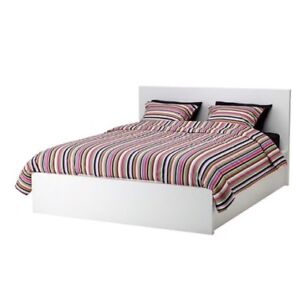 Malm bed frame - double with storage drawers