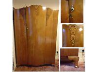 Antique solid wood vintage wardrobe
