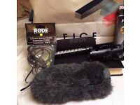 BUNDLE rode dlsr camera microphone PLUS rode audio extension cable , rycote windshield
