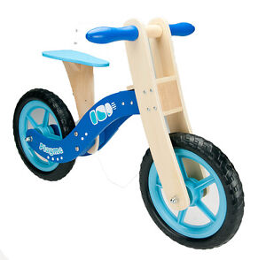 KIDS CHILDREN WOODEN BALANCE TRAINING BIKE CYCLE IN MULTI COLOURS