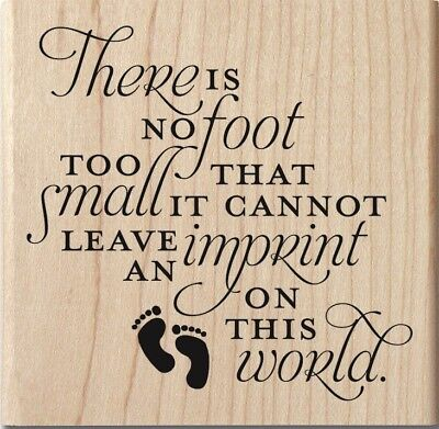 IMPRINT ON THIS WORLD Rubber Stamp PS1053 Hampton Art Brand NEW! baby - Baby Footprint Stamp