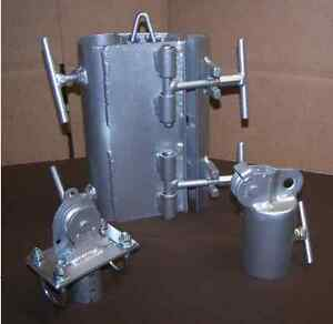 ROHN 25/45 TOWER HINGED GIN POLE CLAMP, MAST AND LOWER PULLEY SET