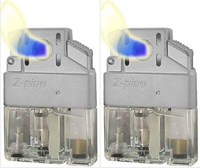 (2 Pack) Z- Pipe Lighter Butane Insert Torch Flame Upgrade Windproof - Best