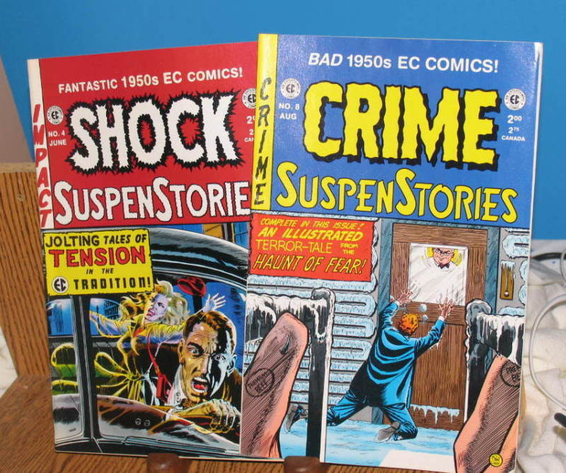 LOT /2 COMIC BOOK SHOCK & CRIME SUSPENSTORIES 1993 - 94