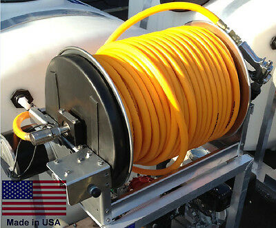 "SPRAYER HOSE REEL Commercial - Aluminum - 12 Volt Electric - 300 Ft of 3/8"" Hose"