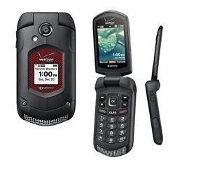 Kyocera DuraXV Dura XV E4520 Flip Black(Verizon)Rugged Cell Phone(Page Plus
