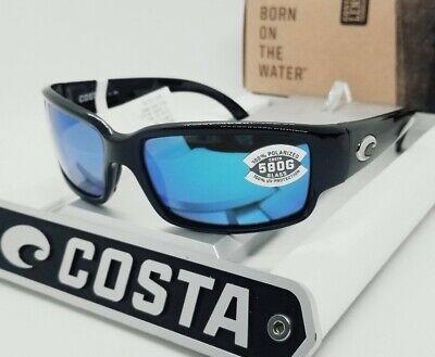 580G - COSTA DEL MAR black/blue mirror CABALLITO POLARIZED sunglasses! (Caballito Del Mar)
