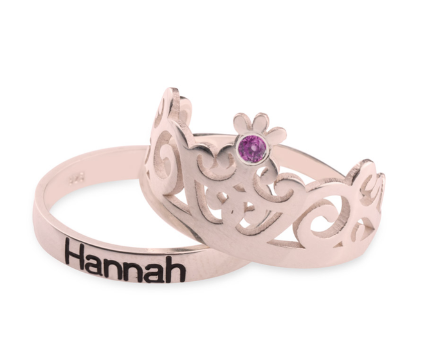custom crowns couple ring set sterling silver