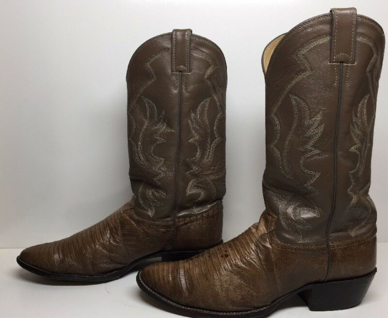 #G, MENS, JUSTIN, COWBOY, LIZARD, SKIN, LEATHER, LIGHT, BROWN, BOOTS, SIZE, 12, D
