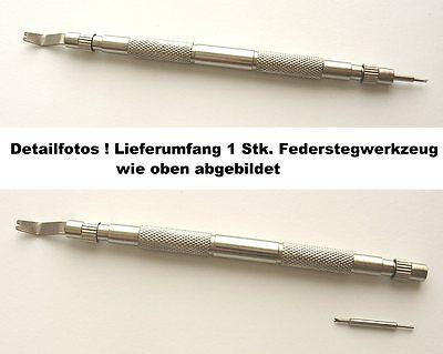 1 Stück VERSCHRAUBTES FEDERSTEGWERKZEUG für Lederband Kautschuk Edelstahlband