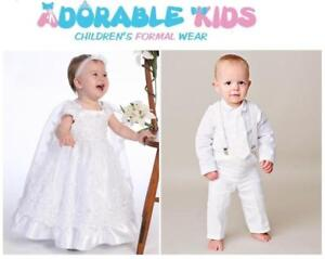 Brand New Christening Gowns or Baptism Clothes for Boys and Girls