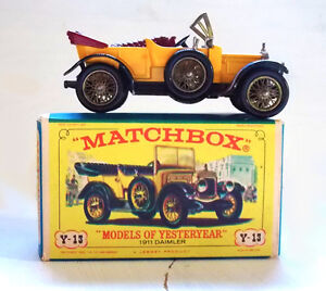 "Matchbox 1911 Daimler Y-13 ""Models of Yesteryear"" with Box"