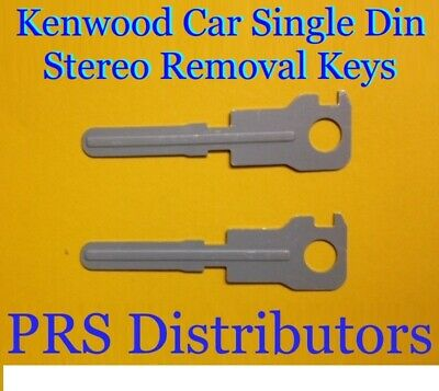 KENWOOD Single Din Radio Stereo Removal Tool Keys Take off radio Release Keys Din Radio Removal Tool