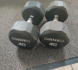 18kg 40lbs Ivanko Dumbbells