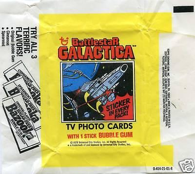 BATTLESTAR GALACTICA 1978 Trading Card set Wrapper!!! Topps