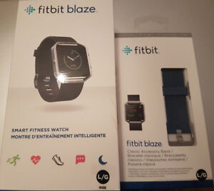 Fitbit Blaze Smart Fitness Watch in Black with Extra Band Bundle
